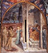 Scenes from the Life of St Francis (Scene 10, north wall) dry GOZZOLI, Benozzo